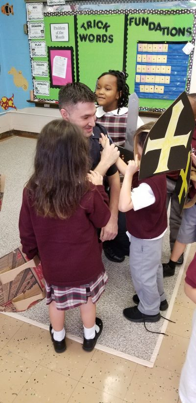 Kindergarten learns about St  Michael, St  Raphael, and St